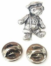 Boy Ted Teddybear Handcrafted in Solid Pewter in Uk Lapel Pin Badge