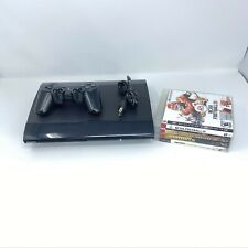 Sony PlayStation 3 PS3 Super Slim Console CECH-4001B 250GB 1 Controller 4 Games