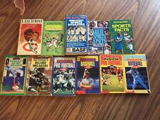 Lot Of Classic Vintage Sports Books Mlb Nfl