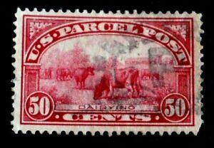 1913 US S# Q10,50c Harvesting Parcel Post Stamp, Used, vf  lite ccld