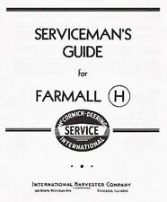 FARMALL H and HV Serviceman's Guide Service manual CHS-13 (03-11-1941)