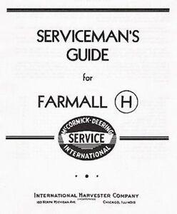 FARMALL H and HV Serviceman's Guide Service manual CHS-13 (03-11-1941)