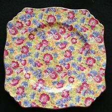 Royal Winton Plate Royalty Square Luncheon Grimwades Chintz England 1940