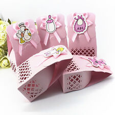 12pcs Cute Baby Shower candy box Party Decors Kid Gift Sweet Birthday Bags_es