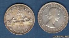 Canada - 1 Dollar 1960 Elizabeth II Argent Silver Qualité TTB - SUP - Canada