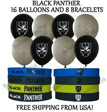8 Bracelets and 16 Balloons ~ Black Panther Themed Birthday Party Decorations