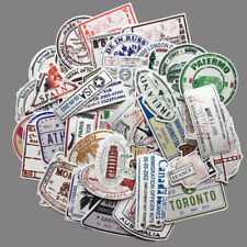 50pc World Famous Landmark Building Stamp Stickers for Skateboard/Luggage/Laptop