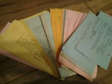 Vintage recipes collection Estate Find approx. 100 or more type written recipes
