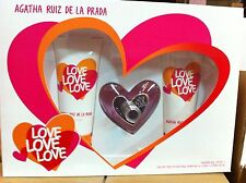 AGATHA RUIZ PRADA LOVE LOVE LOVE EAU TOILETTE 80 ML + BODY MILK 100 ML + GEL 100