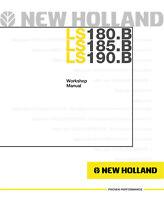 New Holland LS180.B LS185.B LS190.B Skid Steer Printed Service Workshop Manual