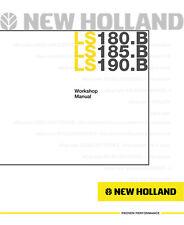 New Holland Ls180b Ls185b Ls190b Skid Steer Printed Service Workshop Manual