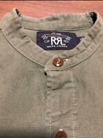 RRL RALPH LAUREN Mens Military shirt Color Brown Size M  long sleeve Used