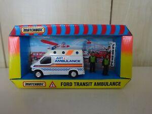 MATCHBOX SUPERKINGS 1989 FORD TRANSIT AMBULANCE BOXED