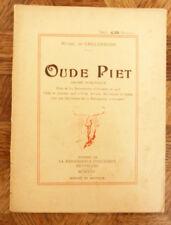 MICHEL DE GHELDERODE OUDE PIET drame LA RENAISSANCE D'OCCIDENT 1925 E.O.