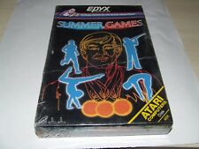 SUMMER GAMES by EPYX (1984) (DISK) for ATARI COMPUTER RARE LIKE THIS SEALED!