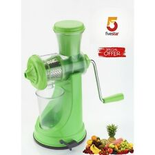 Manual Juicer Green for Fresh Fruit & Vegetable Juice BPA Free Non Electric