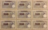 Lot Of 9 Serbia Germany Occupation Banknotes. 9 X 100 Dinara. Dated 1941.