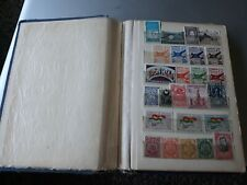 Vintage Stamp Wwii Era Album Many Countries Some Unusual Ones Ww2 W/ Many Others