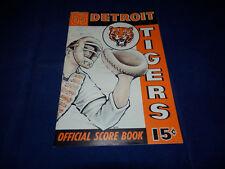1963 Detroit Tigers Official Scorebook VS New York Yankees