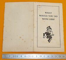 RARE PROPAGANDE ANGLAISE ANTI-HITLER CARICATURE PATRIOTIC PAPER 1940-1943 WW2