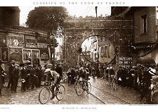 Tour de France GATES OF VERDUN Classic 1922 Cycling POSTER Print