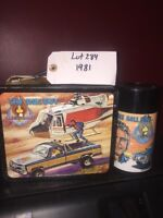 Vintage 1981 Aladdin LEE MAJORS THE FALL GUY METAL LUNCHBOX with THERMOS lot 284