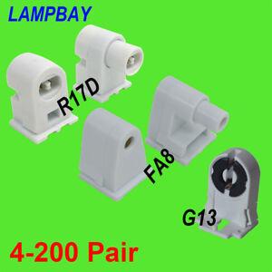Lamp Holder FA8 R17D (HO) G13 LED Tube Light Socket T8 T12 Fluorescent Bulb Base