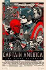 Tyler Stout Mondo Captain America: The First Avenger Poster Print