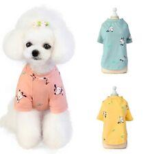 Cute Pet Dog Clothes Apparel Cartoon Vest Summer T-shirts Small Cat Puppy S-2XL