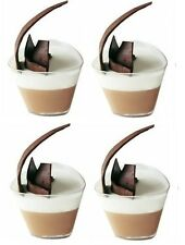 Lot of 10 Triangular 180ml Plastic Cups...... high quality clear dessert holders
