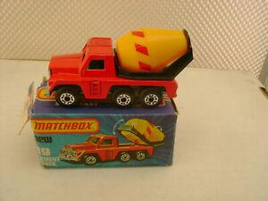 1978 MATCHBOX LESNEY SUPERFAST #19 CEMENT TRUCK Nuovo IN Scatola Danneggiata
