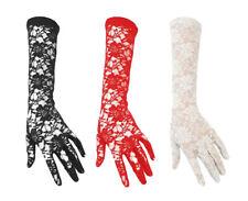 Women's Elegant Long Lace Floral Gloves Fancy Dress Opera Evening Wedding Party