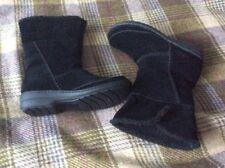🎀 Clarks Avington Grace black suede slouch boot 5.5