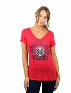 Women's NBA Washington Wizards Box Out Varsity Stripe T-Shirt, Red, XL, NWT