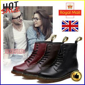 Unisex Dr. Martens 8 Lace Up Leather Doc Martins - Soft NAPPA 1460 Boots Shoes A