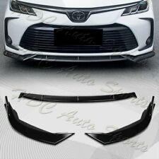 For 2019-2020 Toyota Corolla Painted Black Front Bumper Body Spoiler Lip 3PCS