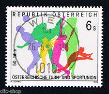AUSTRIA 1 FRANCOBOLLO SPORT E GINNASTICA 1995 timbrato