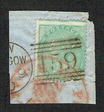 Scott # 28 - 1856 - Queen Victoria - Used mounted on envelope corner