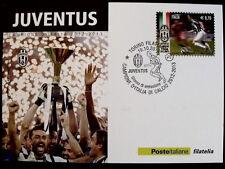 CARTOLINA JUVENTUS CAMPIONE D'ITALIA 2012-13 ANNULLO TORINO 19-10-13 [AF6]