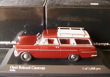 OPEL REKORD CARAVAN 1960 RED MINICHAMPS 430040212 1/43 RUBIA BREAK ROUGE RUBIS