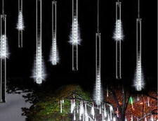 8 Tube 50cm waterproof led meteor shower snowfall light white Rain Xmas Tree
