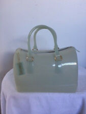 FURLA MINT GREEN CANDY JELLY RUBBER SATCHEL BIG HAND BAG