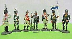 8 Del Prado Metal Napoleonic Solders 6-7 cm Tall - (2602)