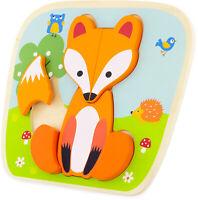 Puzzle Steckpuzzle Holzspielzeug für Kleinkinder ab 1 Jahr -Verschiedene Motive