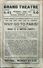 More details for why go to paris? glamorous josette, eva may wong grand theatre flyer c.1940's