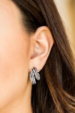 Paparazzi clip on feather earrings jewelry nwt