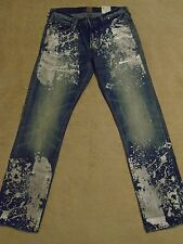 PRPS GOODS & CO BARRACUDA Mid Blue Metallic Splatter Mens 42 x 34 Orig. $300+
