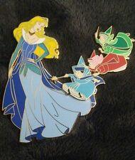 Art Of Aurora Blue dress Disney Fantasy pin LE 33 Sleeping Beauty Glow in dark p