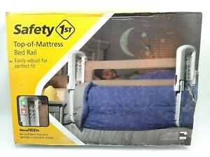 Safety 1st Top of Mattress Bed Rail, Cream -New In Box-