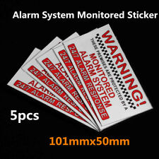 5x Alarm System Monitored Warning Security Sticker External Security Sign Notice